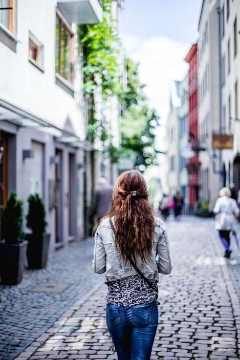 woman journeying