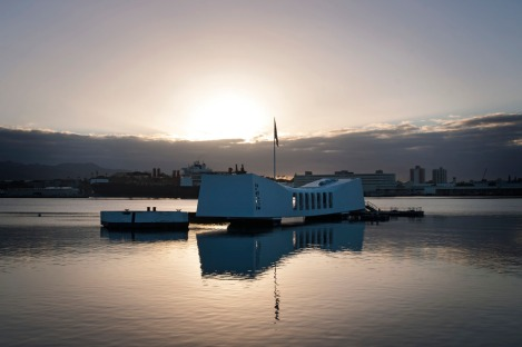 Sunrise over USS Arizona Memorial