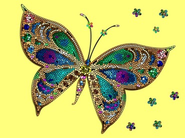 mosaic - butterfly