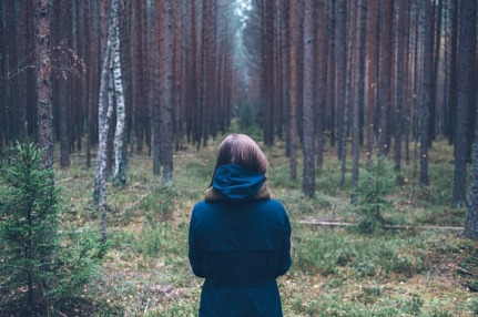 woman in woods - pic for logistics on story page