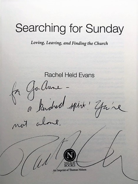 Rachel Held Evans inscription