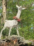 reindeer with spring garland